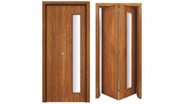 Drzwi łamane idealne do małych pokoi