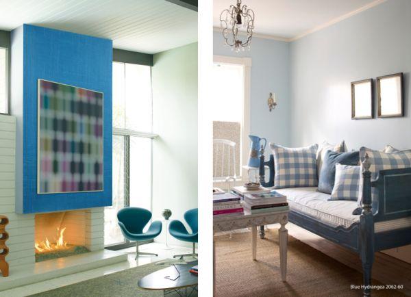 Kolory w salonie – pożycz ścianie jeansy